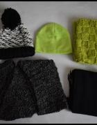 Zimowy zestaw dla kobiety szale kominy czapki...