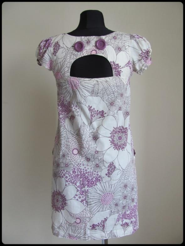 Sukienka na lato z wycięciem na plecach 38 M bawełna...