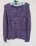 Metaliczny sweterek fiolet...