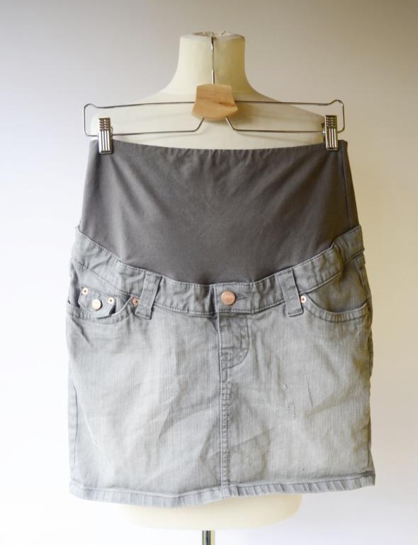 Spódnice Spódniczka Szara H&M Mama Ciązowa Przetarcia M 38 Dzins
