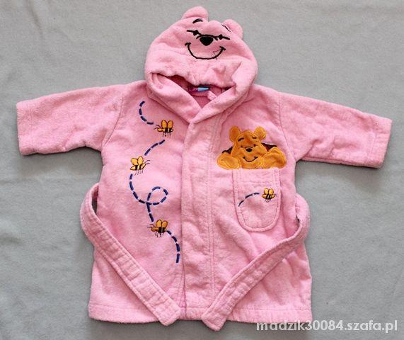 Piżamki szlafrok różowy 0 6 miesiąca