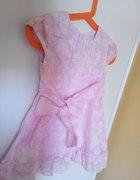jasnoróżowa sukienka smyk 80