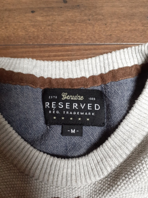 Szary sweterek z reserved rozmiar M...