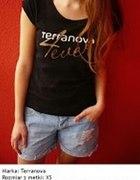 Czarna koszulka z napisami Terranova xs 34 s 36...
