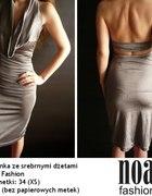 Szara sukienka z dżetami Noa Fashion xs 34...