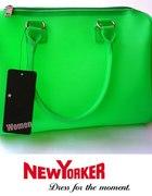 Zielona neonowa torebka New Yorker...