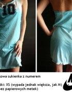 Błękitna sportowa sukienka z numerem Nike 38 M...