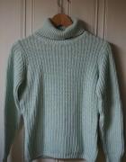Miętowy sweter C&A Clockhouse xs 34 golf...