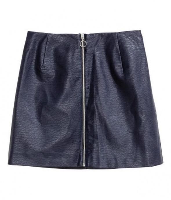 Spódnice spódniczka eco skóra h&m xxs 32 xs 34 zamek suwak