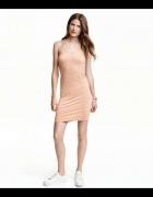 sukienka h&m xs 34 ołówkowa pencil bandażowa...