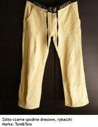 żółto czarne spodnie dresowe rybaczki m 38 j nowe...