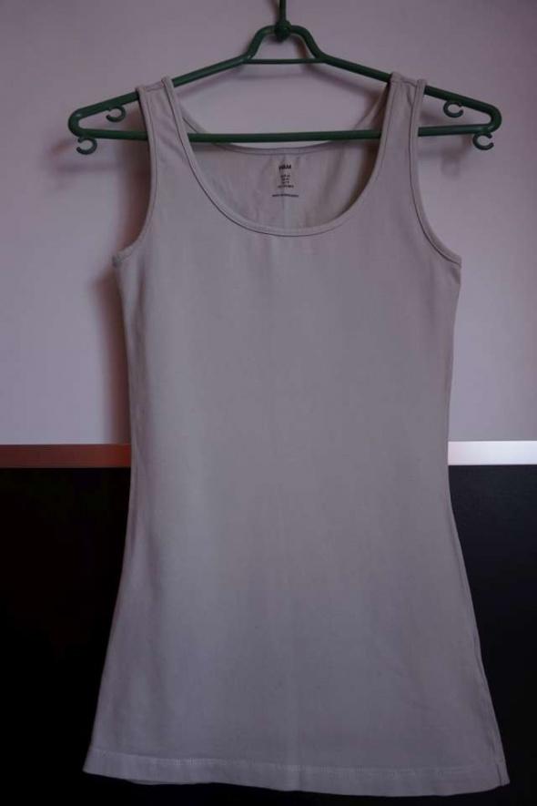 Beżowa bokserka h&m xs 34 koszulka top bluzka