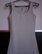 Beżowa bokserka h&m xs 34 koszulka top bluzka...