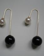 Nowe kolczyki czarno perłowe...