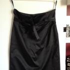 Czarna elegancka atłasowa spódniczka rozm 40