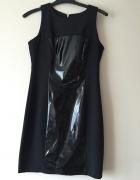 MOHITO czarna sukienka z pasem połysk M jak nowa