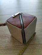 oryginalna brązowa beżowa torebka...