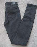 spodnie jeans rurki Levis 710 super skinny r 26 grafitowe...
