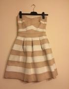 River Island piękna sukienka sztywny materiał...