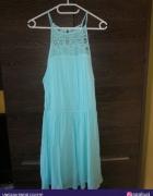 Błękitna sukienka M L...