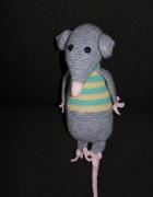 Ręcznie robiona myszka szara...