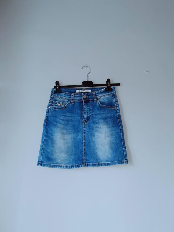 Krótka spódniczka z jeansu xs