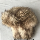 Futrzana czapka H&M L sztuczne futerko włochata duża czapa