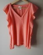 Pomarańcz bluzka H&M 40 L motyl zwiewna falbanki...