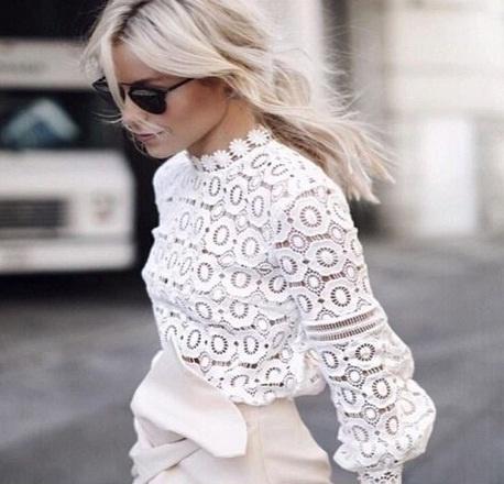 Przepiękna koronkowa bluzka dwa kolory