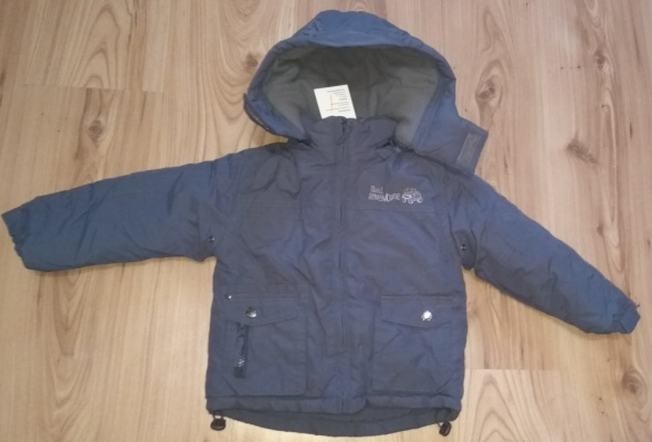 Nowa szara zimowa kurtka chłopięca ciepła 80