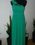 Długa sukienka jedno ramie...