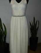 Długa sukienka haftowana...