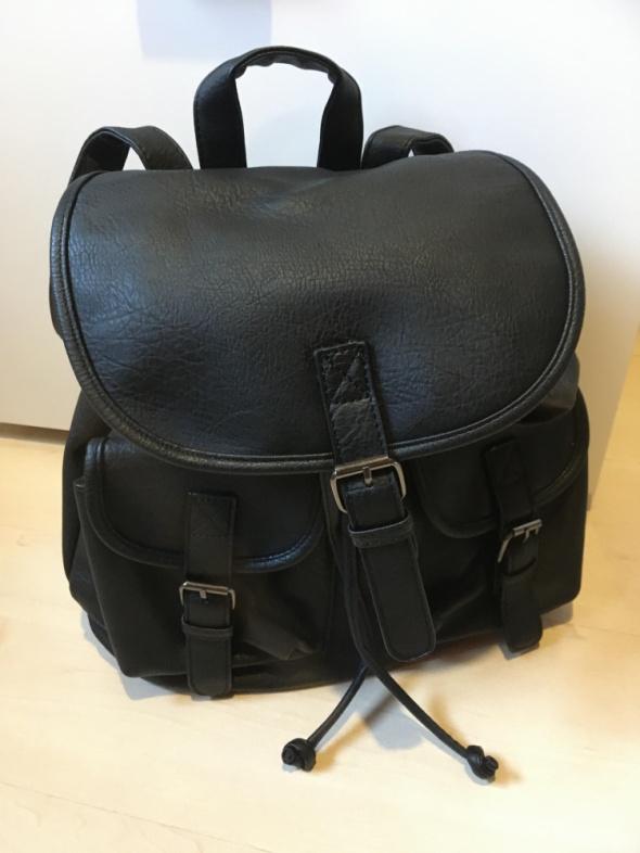 Plecaki Plecak czarny skóra NOWY