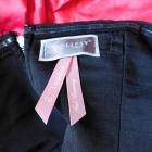 Lipsy sukienka mini róż czarna sexy 36 38