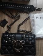 PINKO torebka skórzana pikowana łańcuch glamour nowa...