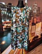 dorothy perkins sukienka zwiewna zip kwiaty hawajski wzór 48...