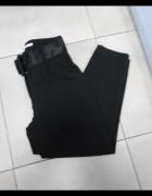 Reserved nowe spodnie czarne cygaretki z paskiem wysoki stan...