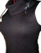 Super sukienka czarna z dzianiny do kozaczków...