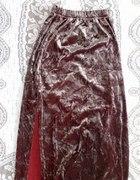 Spódniczka błyszcząca z weluru na 134