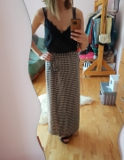 Długa spódnica w kratę krata Maxi 42...