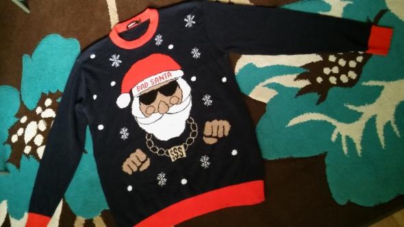 Swetry Sweter z mikołajem XL