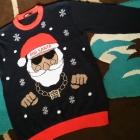 Sweter z mikołajem XL