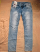 z 79zł na 35zł jeansowe rurki jak marmurki 40 L...