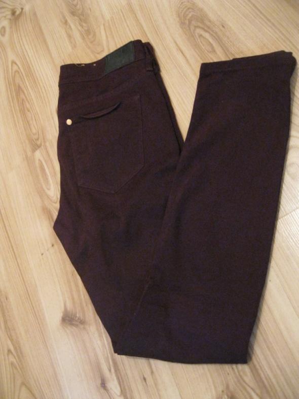 Spodnie spodnie rurki bordowe H&M w28 l32