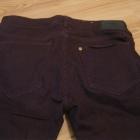 spodnie rurki bordowe H&M w28 l32