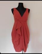 H&M sukienka midi koral 38...