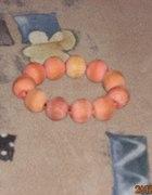 bransoletka pomarańczowa drewniana...