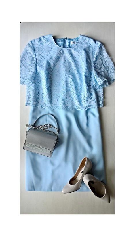 Eleganckie Pastelowy błękit