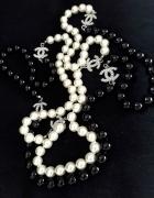 Perły Chanel czarno białe nowe 160 cm...
