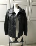 Skórzana czarna kurtka z pikowaną podszewką rozmiar 38...